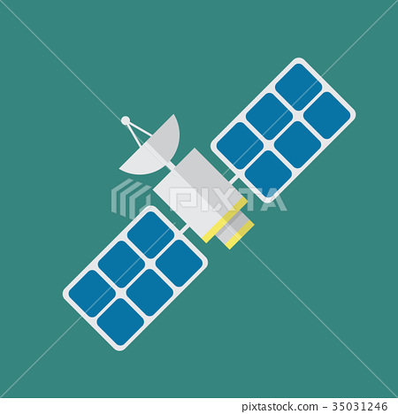 Satellite in flat style 35031246