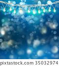 christmas, garland, light 35032974