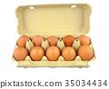 Egg carton with ten eggs 35034434
