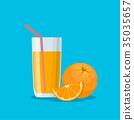 果汁 橙色 橘子 35035657