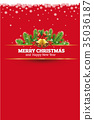 red christmas vintage card background 35036187