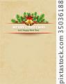 christmas vintage card background 35036188