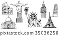 NYC, London Big Ben, Rome-Coliseum, Paris-Eiffel 35036258