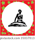 black 8-bit Little mermaid statue in Copenhagen 35037013