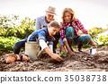 gardening, grandfather, girl 35038738
