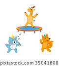 vector flat animals party set isolated 35041608