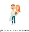 新郎 新娘 向量 35041676