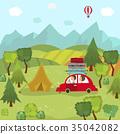 car, trip, countryside 35042082