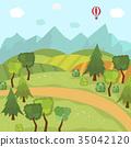 landscape, field, vector 35042120