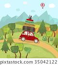 car, trip, countryside 35042122