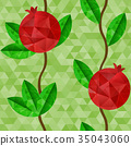 石榴 水果 向量 35043060