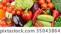 background of set vegetables 35043864