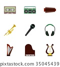 music icon vector 35045439