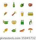 oktoberfest, set, icon 35045732