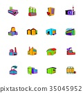 factory, set, icon 35045952