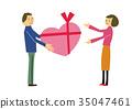 プレゼントを贈る 恋人 または夫婦 35047461