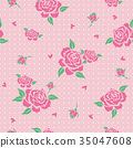 Floral pattern with pink roses  35047608
