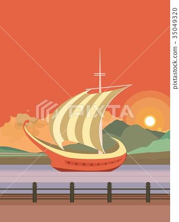 ship evening pier 35049320