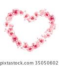 花卉框架,粉红色,心 35050602