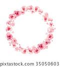 꽃 프레임, 핑크, 서클 35050603