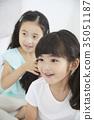 친구,어린이,형제자매,놀이 35051187