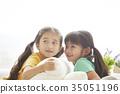 놀이, 소녀, 순수 35051196