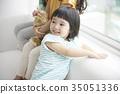 놀이, 소녀, 순수 35051336