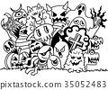 doodle, monster, hipster 35052483