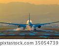 飞机 机场 跑道 35054739