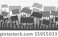 protest, vector, banners 35055033