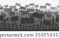 protest, vector, banners 35055035