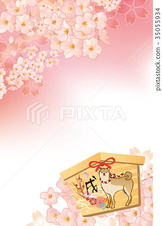 新年賀卡 賀年片 毛孩 35055934
