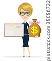 envelope and money bag 35056722