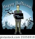 Vector Halloween concept 35056918