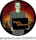 Vector Halloween concept 35056919