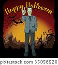 Vector Halloween concept 35056920