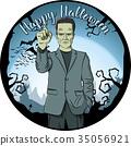 Vector Halloween concept 35056921