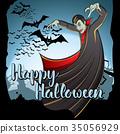Vector Halloween concept 35056929