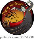 Vector Halloween concept 35056930