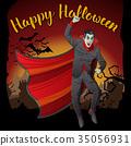 Vector Halloween concept 35056931