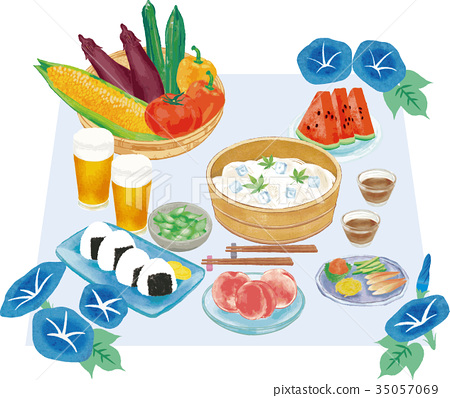 夏天 夏 餐桌 35057069
