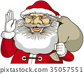 브로셔 및 카탈로그에서 메인 일러스트로 사용할 수있는 산타 클로스의 컷 일러스트 35057551