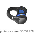 Pair of Headphones isolated 35058529