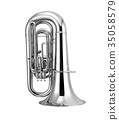 silver tuba isolated 35058579