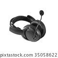 Pair of Headphones isolated 35058622