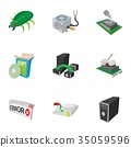 computer, icon, vector 35059596