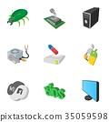 computer, icon, vector 35059598