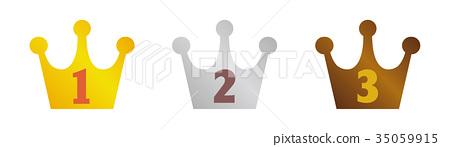 皇冠排名圖標集(金,銀,銅) 35059915