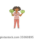 vector flat female doctor in medical clothing 35060895