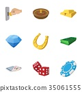 gambling, icon, vector 35061555